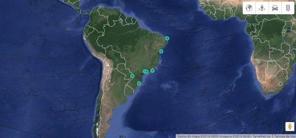 O GoSur é um dos vários serviços online de mapas via satélite (Foto: Reprodução GoSur)