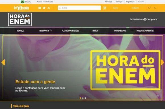 O portal Hora do Enem tem ainda diversos outros recursos (Foto: Divulgação MEC)
