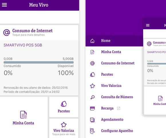 O App Meu Vivo leva diversos serviços online da Vivo para a tela do seu celular ou tablet (Foto: Reprodução Vivo)