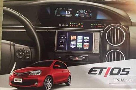 Material oficial de divulgação do Etios 2017 vazou na web (Foto: Reprodução internet)