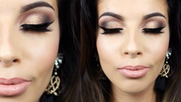 Deixe os olhos bem poderosos na maquiagem. (Foto: Reprodução/Youtube)