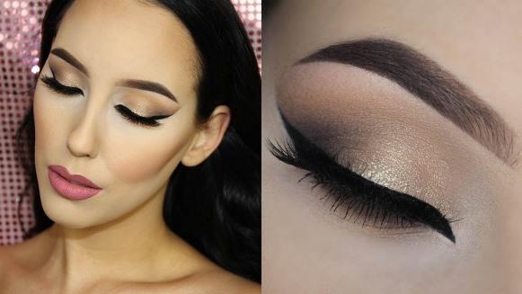 Maquiagem com olhar bem marcante. (Foto: Reprodução/Youtube)