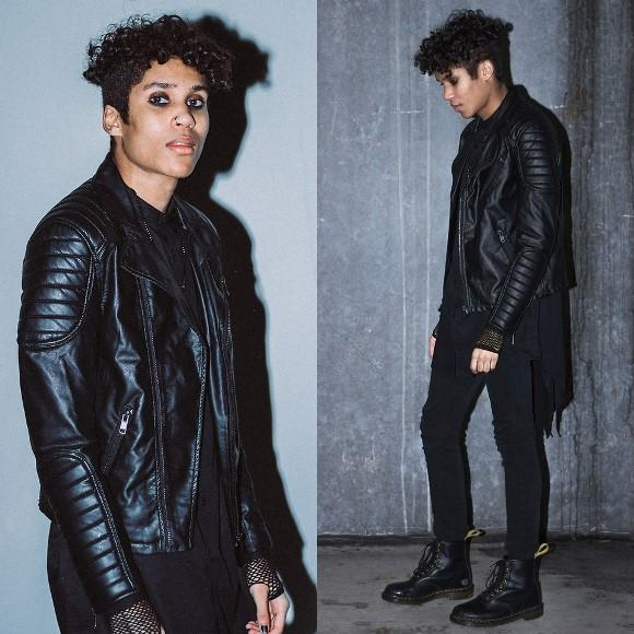 Look totalmente preto. (Foto: Reproduação/Lookbook.nu)