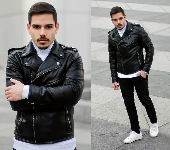 A Biker Jacket é perfeita para looks casuais. (Foto: Reproduação/Lookbook.nu)