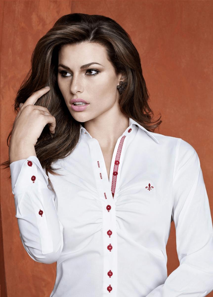 Camisa feminina Dudalina branca linda (Foto: Divulgação)