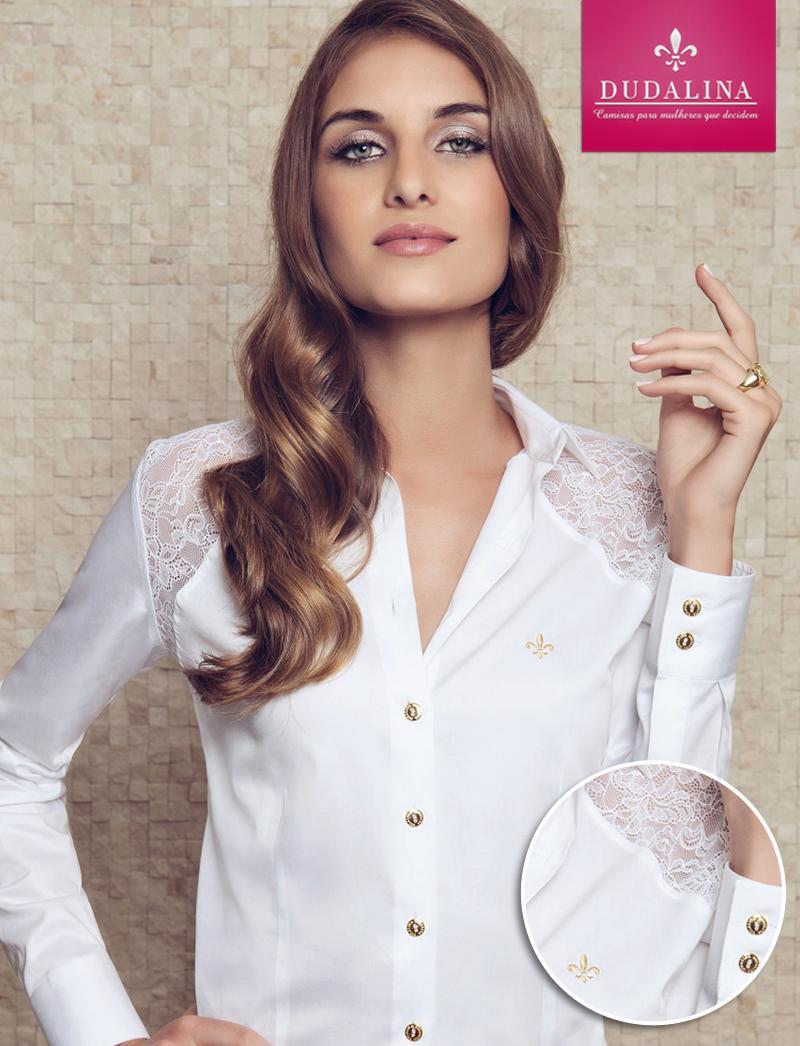 As camisas brancas Dudalina são lindas (Foto: Ilustração)