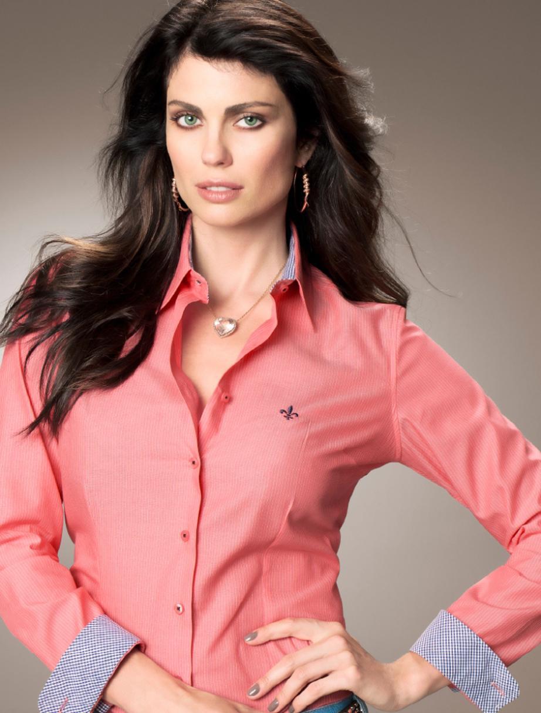 Camisa salmão feminina Dudalina (Foto: Ilustração)