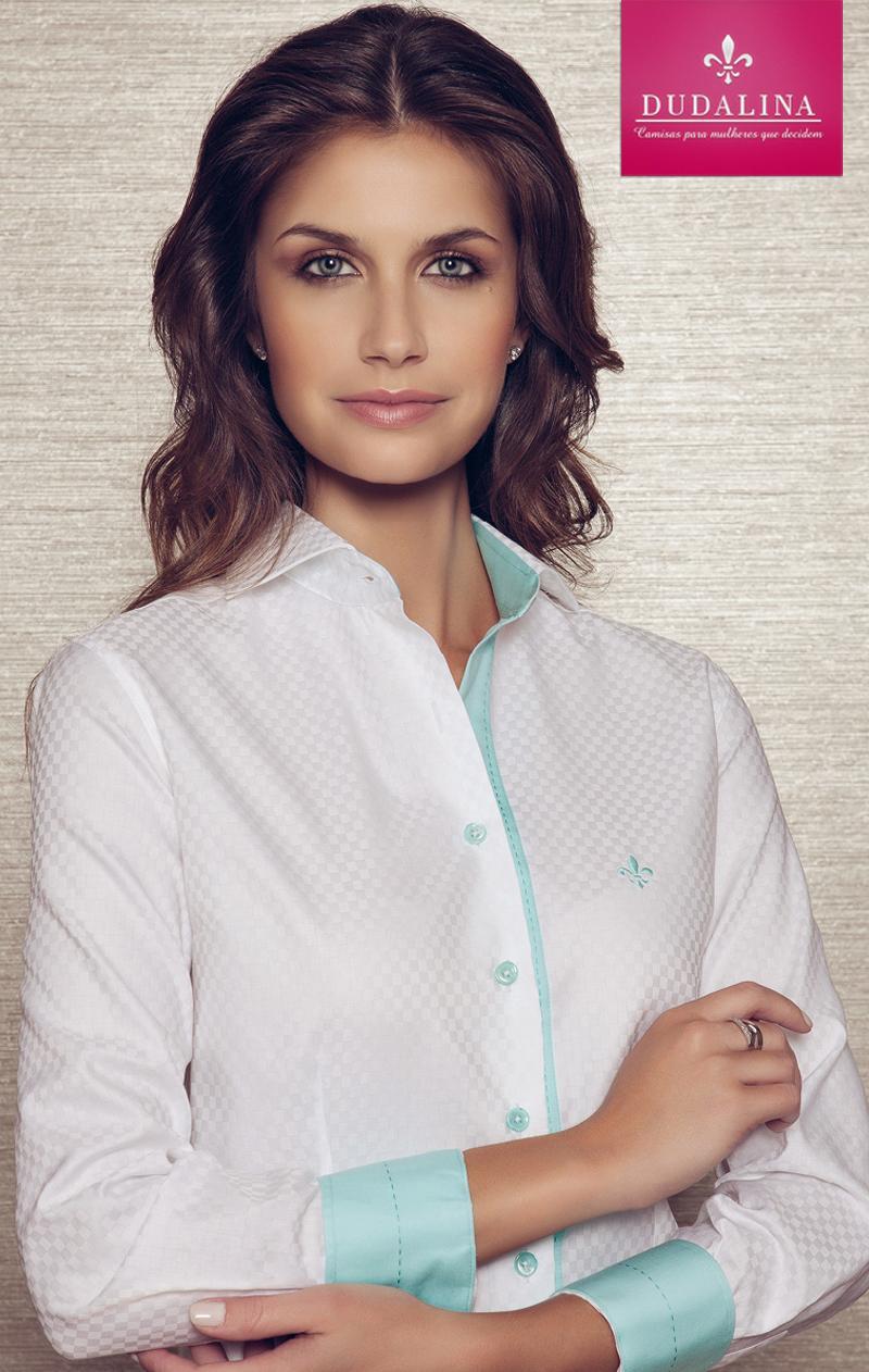 Camisa Dudalina branca transparente (Foto: Divulgação)