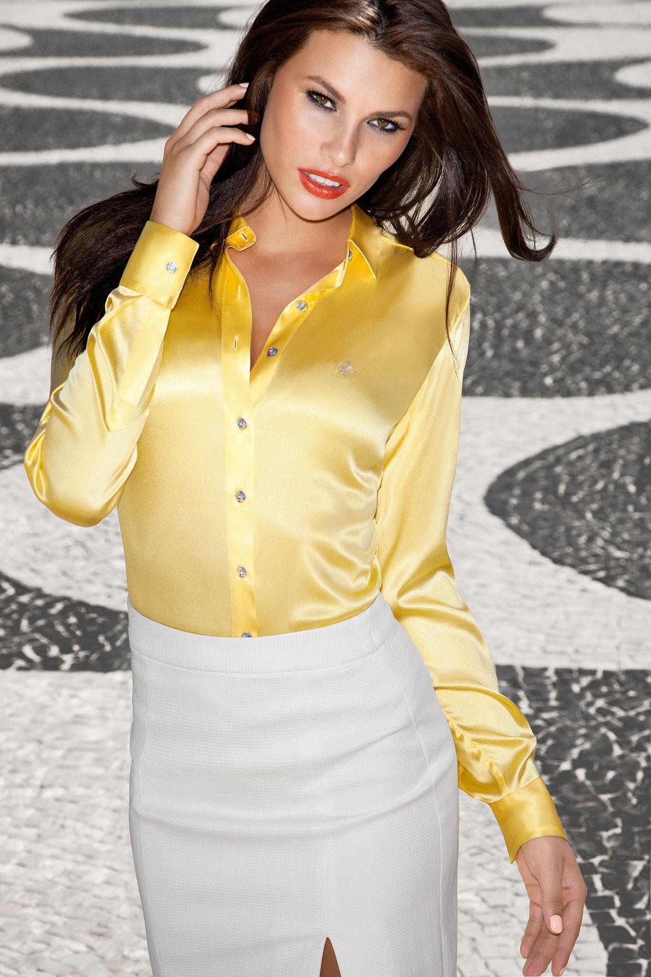 Camisa Dudalina amarela (Foto: Divulgação)