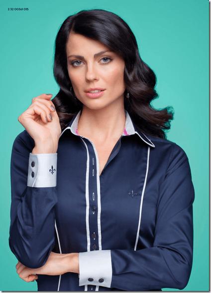 Camisa feminina Dudalina com listras (Foto: Divulgação)