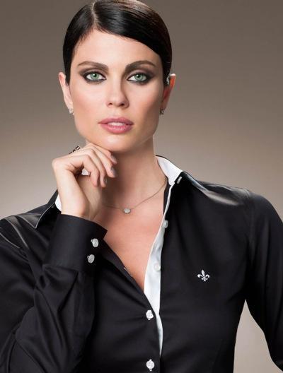 Camisa feminina preta Dudalina (Foto: Divulgação)