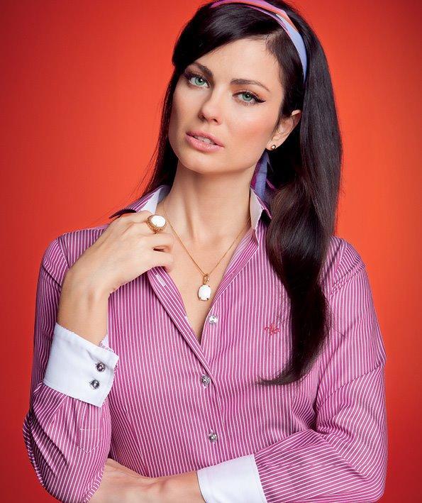 Camisa Dudalina rosa com listras (Foto: Divulgação)