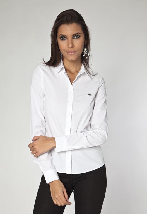 Camisa Dudalina branca com botões (Foto: Divulgação)