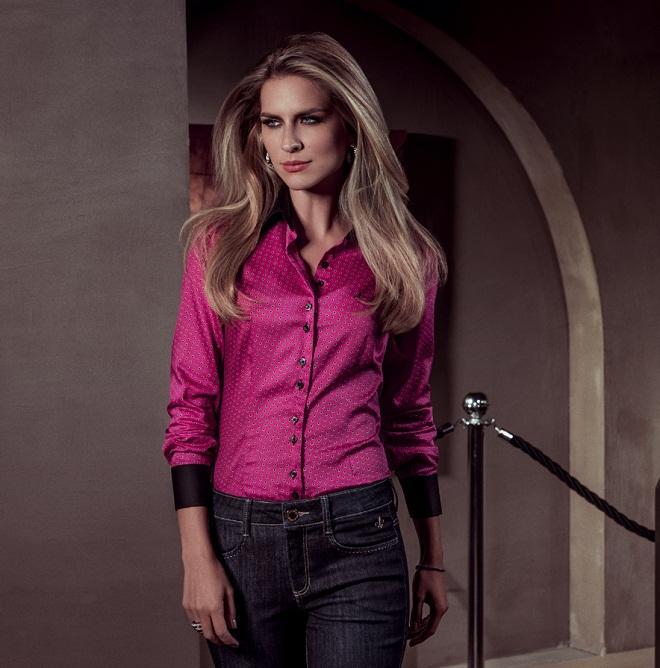 Camisa Dudalina pink linda e muito elegante (Foto: Divulgação)