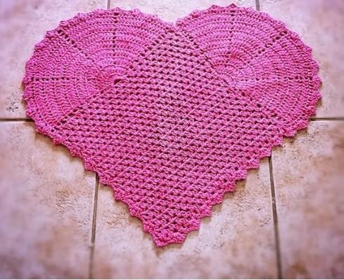 Tapete de coração com pontos diferentes (Foto: Divulgação)