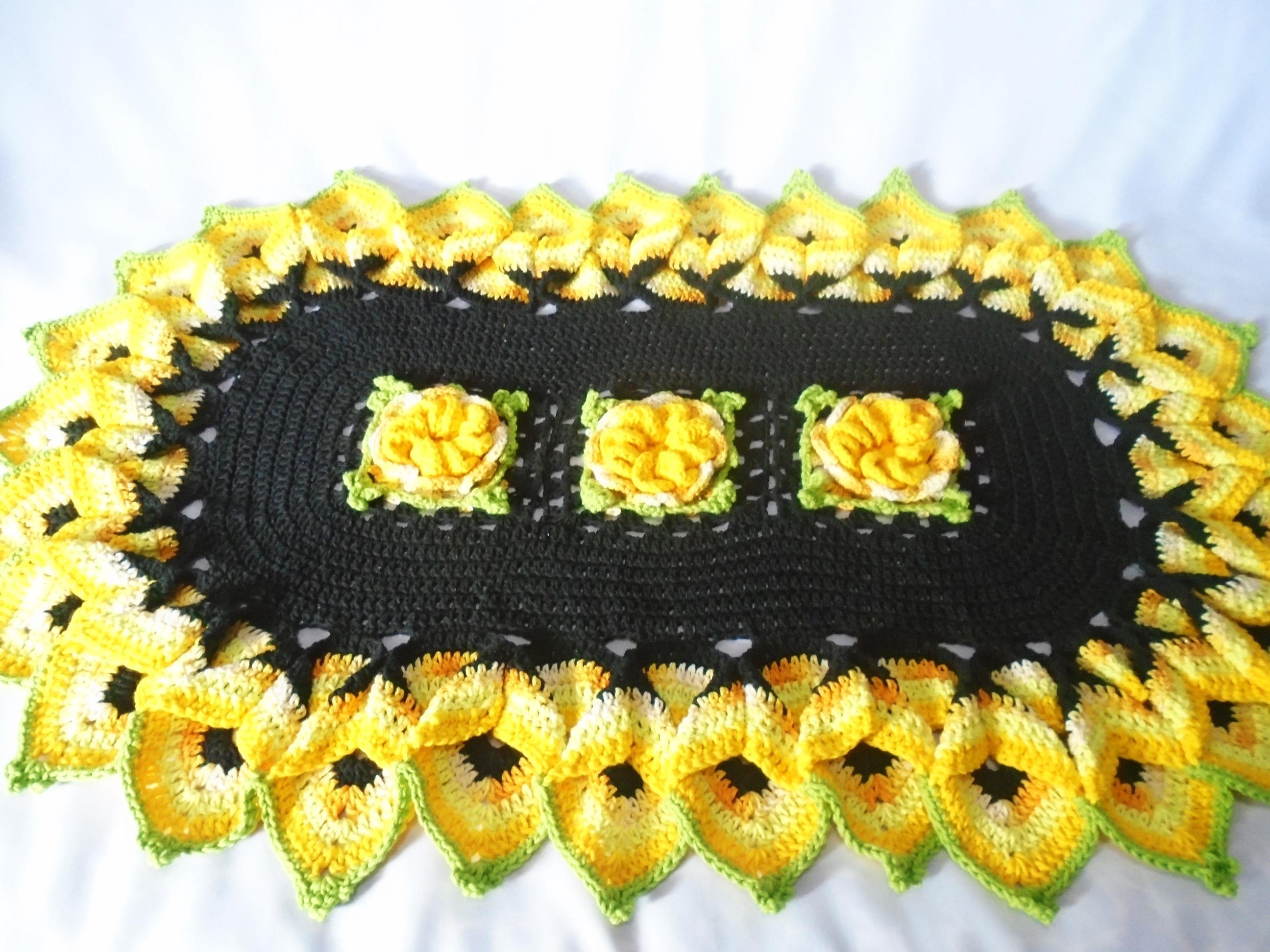 Tapetes lindos de crochê (Foto: Divulgação)