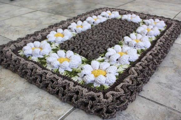 Os tapetes de crochê podem ter a cor que você quiser (Foto: Ilustração)