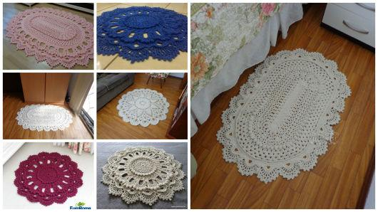 Solte a imaginação e faça diferentes tipos de tapetes de crochê (Foto: Divulgação)