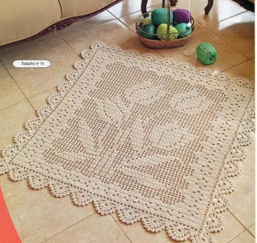 Tapete quadrado de crochê (Foto: Divulgação)