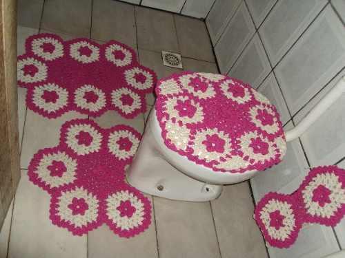 Tapete de crochê de banheiro (Foto: Divulgação)