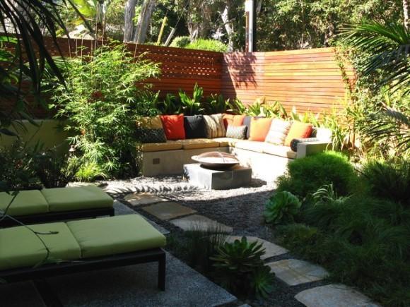 Deixe o quintal mais receptivo com móveis. (Foto: Reprodução/ houzz)