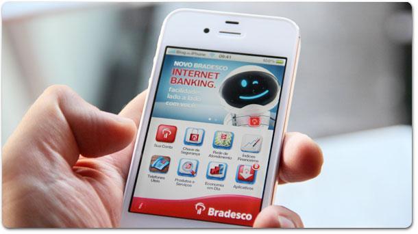 Financiamento Bradesco Pessoa Jurídica Crédito podem ser vistos por meio de aplicativos do Bradesco de celular (Foto: Ilustração)