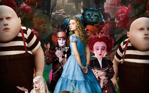 O novo filme de Alice no País das Maravilhas está lançando moda. (Foto: Divulgação)