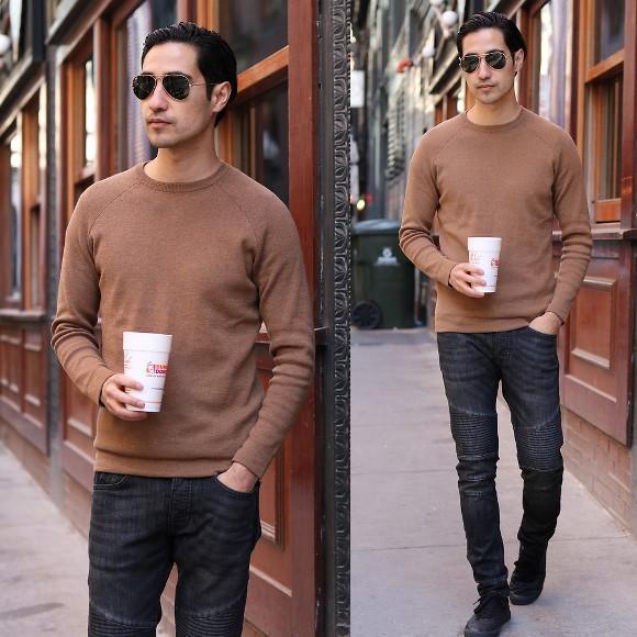 Suéter masculino. (Foto: Reprodução/Lookbook.nu)