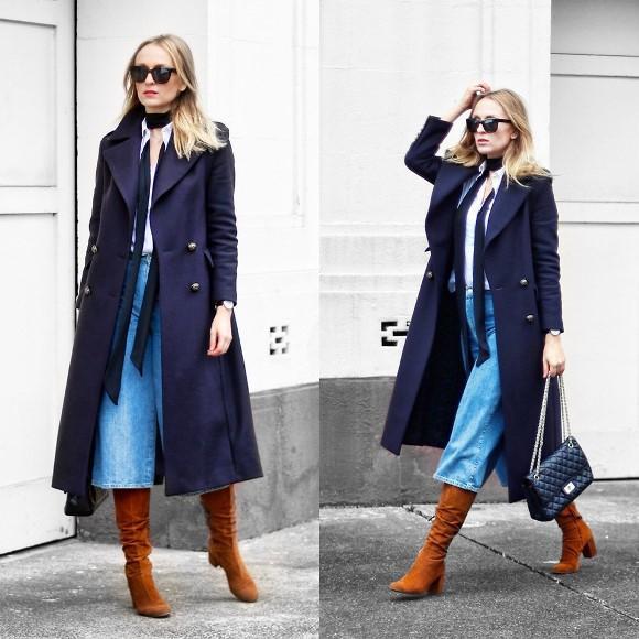 O casaco deia o look sofisticado. (Foto: Reprodução/Lookbook.nu)