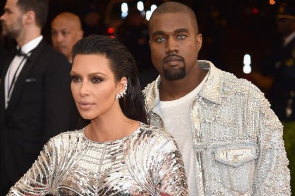 Kim Kardashian e Kanye West. (Foto: Reprodução/Getty)