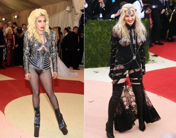 Lady Gaga e Madonna. (Foto: Reprodução/Getty)