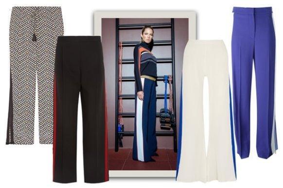 A pantalona com listra lateral reina no look. (Foto: Reprodução/ Se Liga Mulher)