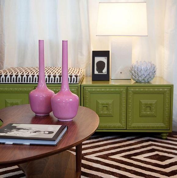 Rosa e Verde na decoração como combina Homedit