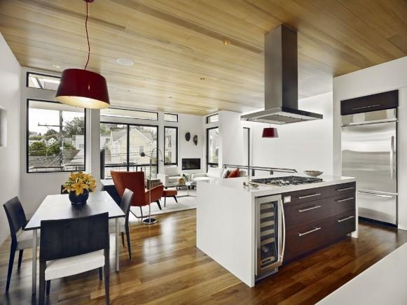 Use um mesmo tipo de piso para os dois ambientes. (Foto: Reprodução/Handcraftyourhome)
