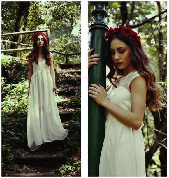 O vestido de casamento diurno deve ser leve e romântico. (Foto: Reprodução/Lookbook.nu)