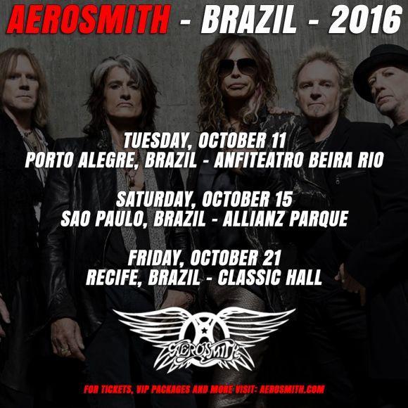 Os shows do Aerosmith no Brasil acontecerão em outubro (Foto: Reprodução site Aerosmith)