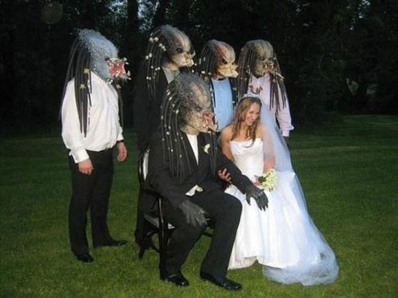 Esses noivos são fãs do filme O Predador (Foto Ilustrativa)