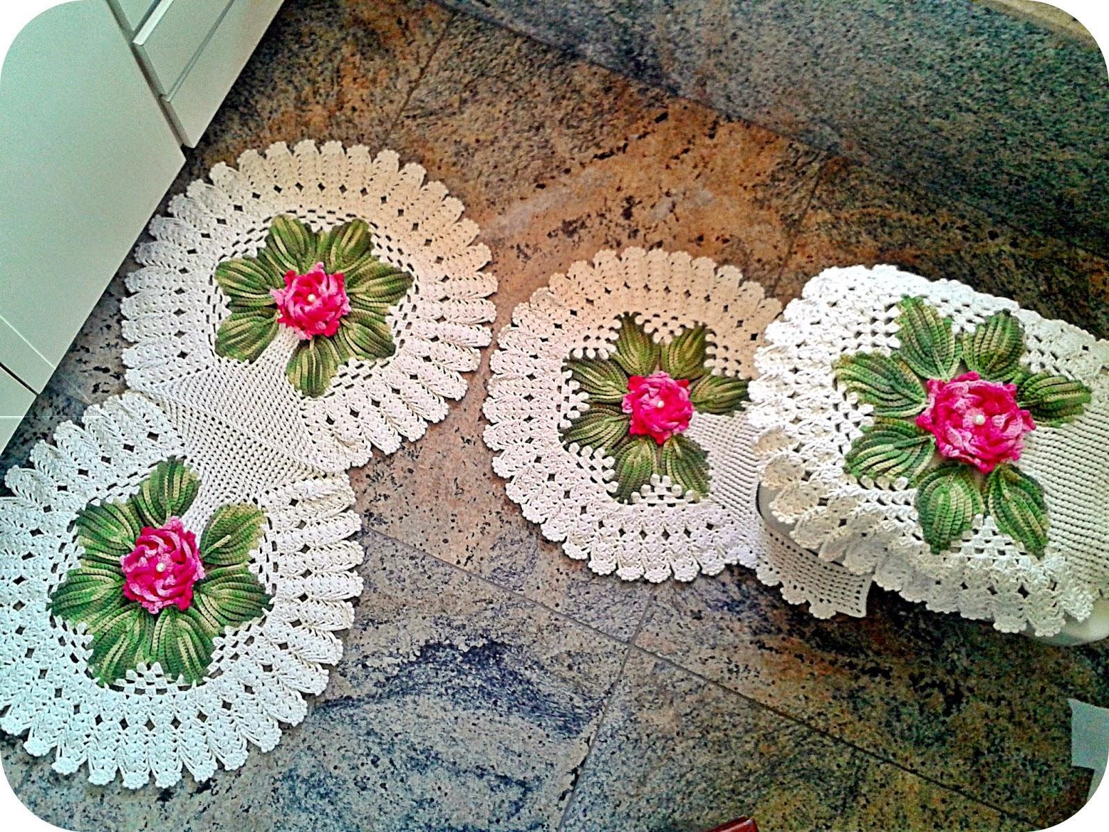 Tapetes diferentes de crochê (Foto: Divulgação)
