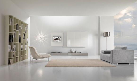 Decoração minimalista para sala (Foto Ilustrativa)