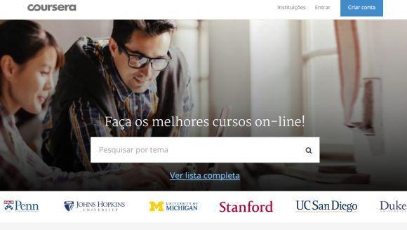 Para participar das aulas, é só criar uma conta grátis no Coursera (Foto Ilustrativa)