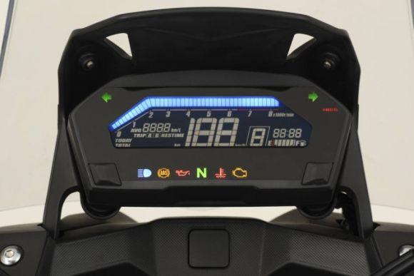O painel de instrumentos digital tem luzes de alerta customizáveis (Foto: Divulgação Honda)