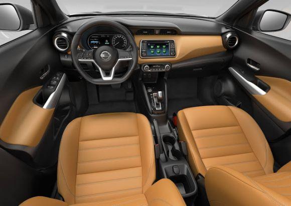 O interior colorido do Kicks chama a atenção (Foto: Divulgação Nissan)