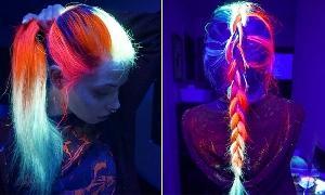 Cabelos que brilham no escuro: tendências, fotos