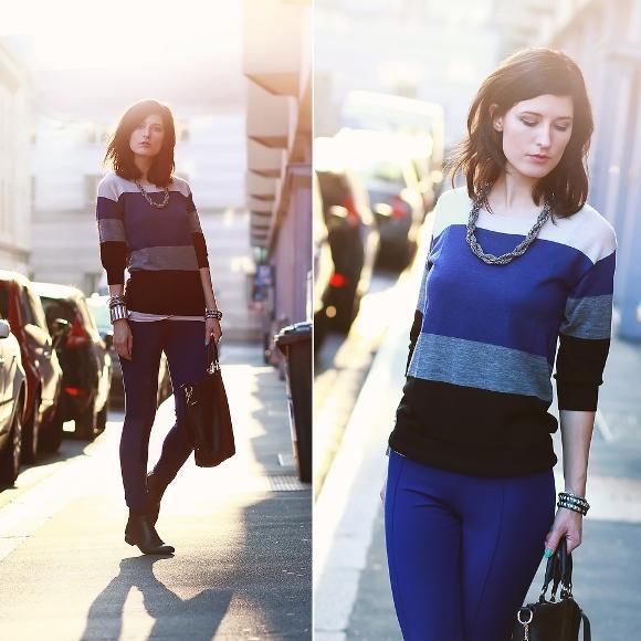 Combinação de calça montaria com suéter. (Foto: Reprodução/Lookbook.nu)