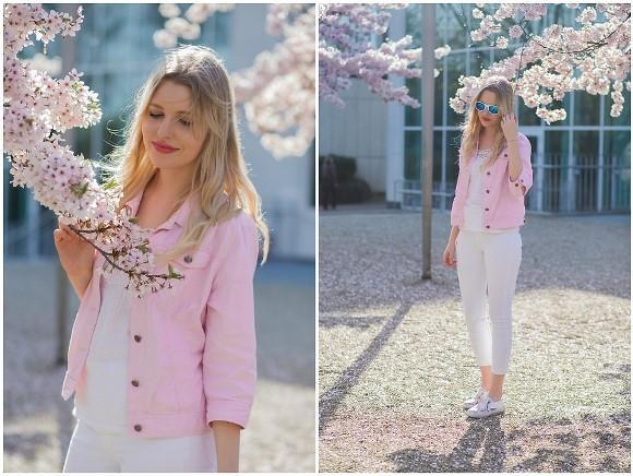 Look rosa e branco. (Foto: Reprodução/Lookbook.nu)