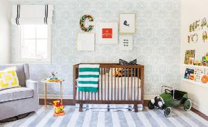 Decoração bicolor para quarto de crianças
