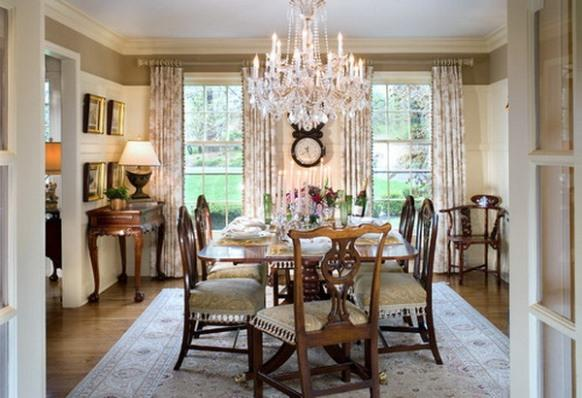 Lustre de cristal na sala de jantar. (Foto: Reprodução/ Architectureartdesigns)