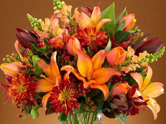 Flores com cores que combinam com o outono. (Foto: Reprodução/Proflower)