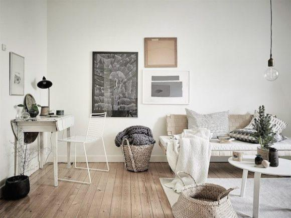 O estilo é inspirado nas paisagens da Escandinávia. (Foto: Reprodução/Decorilla)