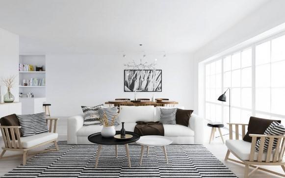 Esse tipo de decoração pede muito branco. (Foto: Reprodução/Abode-group)